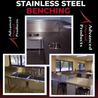 Stailess Steel Benching - Advanced Metal Products Warwick QLD
